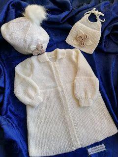 3ec2b3cb46 Lana e Cotone (maglia e uncinetto): Cappottino da Battesimo   Abito ...