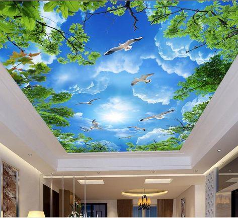 Custom Photo 3d Ceiling Murals Wallpaper White Clouds 3d Ceiling Wall Murals Wallpaper For Walls 3d Wallpapers On Hd Wallpapers Photos From Yeyueman5555, $26.59| Dhgate.Com