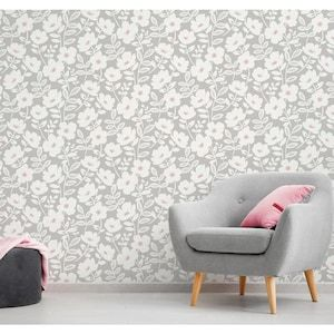 Brewster Urban Walls 56 4 Sq Ft Pink Non Woven Floral Unpasted Paste The Wall Wallpaper Lowes Com Scandi Wallpaper Wall Wallpaper Wallpaper Roll