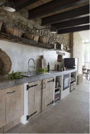 Idee per arredare la cucina in stile rustico | Campagna ...