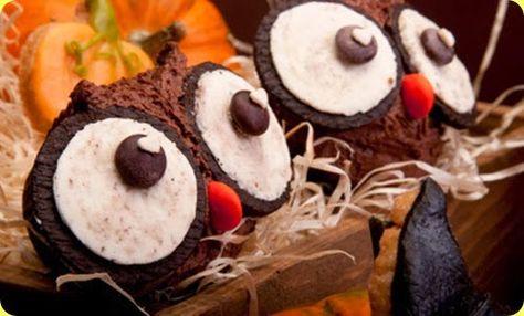 Muffin di Halloween a forma di gufo