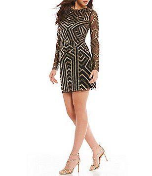 38375ed074 Gianni Bini Kim Geometric Sequin Dress