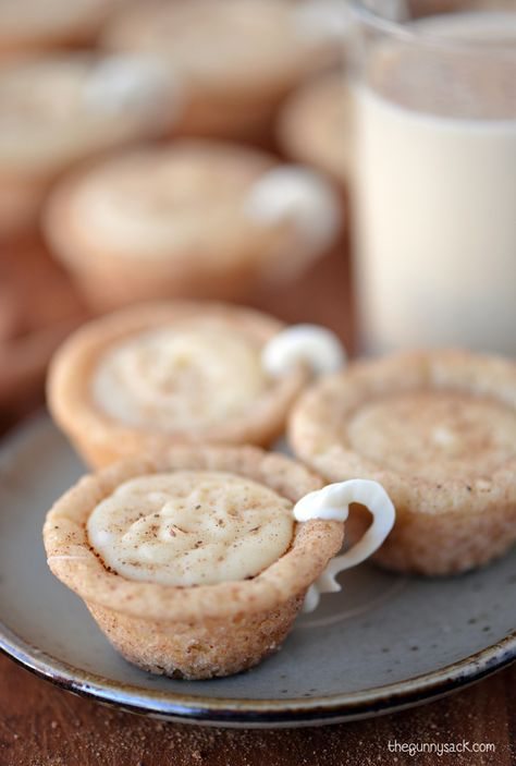 Eggnog Cookie Cups are sugar cookie cups filled with eggnog ganache. This edible craft idea is an easy eggnog recipe that is perfect for Christmas.