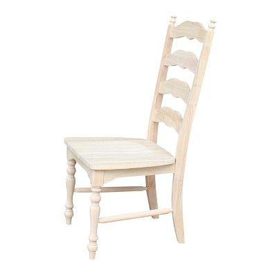 Set Of 2 Maine Ladderback Chair Unfinished International