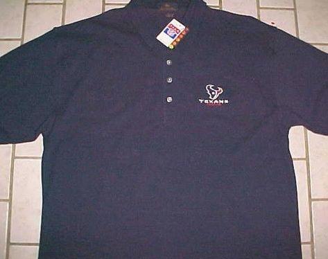 d4713b7e Houston Texans Team Logo NFL AFC South Navy Blue Cotton Polo Shirt ...