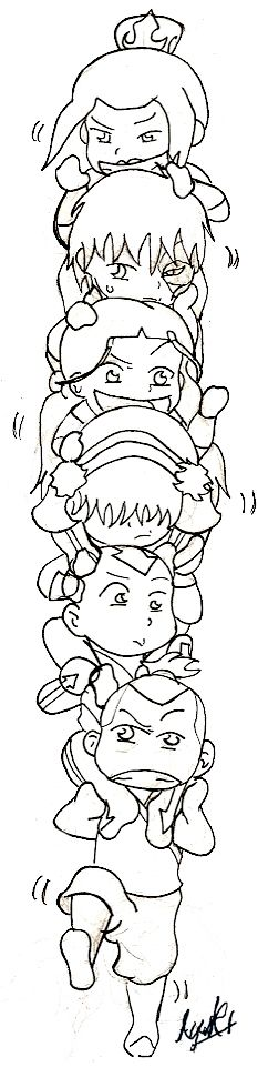 coloring pages avatar the last airbender coloring pages | coloring ...