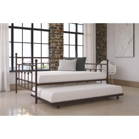 DHP Manila Metal Full Size Daybed and Twin Size Trundle Bronze