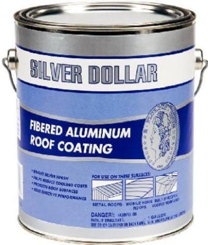 Silver Doller 6211 Ga Fibered Aluminum Roof Coating 1 Gallon Roof Coating Aluminum Roof Flat Roof Repair