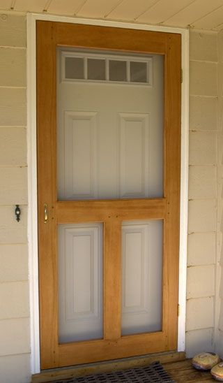 Screen Door plan, is a step by step instructions on how to build a screen door. Could I make this removable and work for our garage?