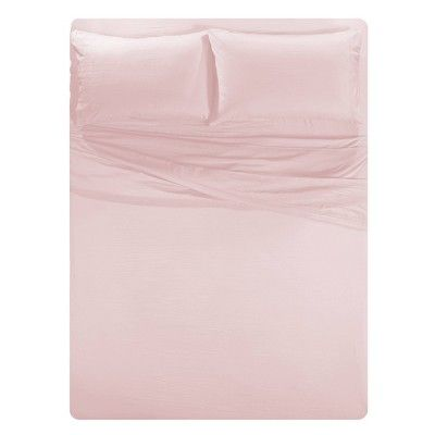 Queen Solid Temperature Regulating Cooling Sheet Set Blush Posh Home Fashion Room Soft Bed Sheets Sheet Sets