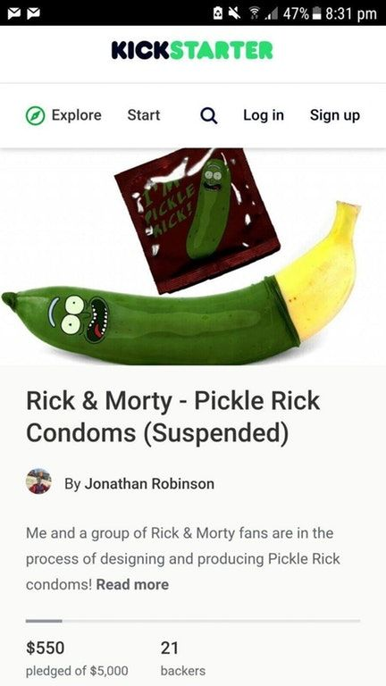 Pickle Rick Condoms Ofcoursethatsathing Rick And Morty