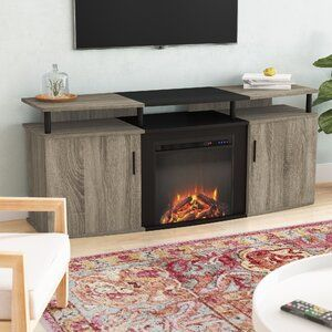 Elian Tv Stand For Tvs Up To 70 With Electic Fireplace Included Fireplace Tv Stand Tv Stand Living Room Entertainment Center