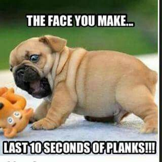 Um...lets try the first ten seconds of planks!!