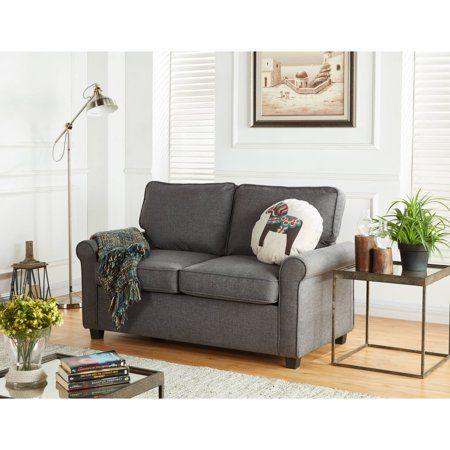 Fabulous Mainstays 57 Loveseat Sleeper With Memory Foam Mattress Creativecarmelina Interior Chair Design Creativecarmelinacom