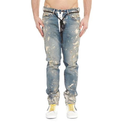 51b4b409 Diagonals denim pants from the F/W2017-18 Off-White c/o Virgil Abloh  collection in vintage blue