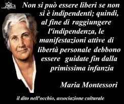 Risultati Immagini Per Frasi Di Maria Montessori