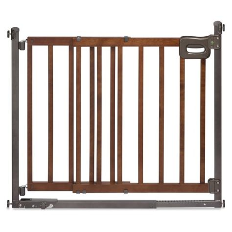 Summer Infant Step To Secure Wood Walk Thru Baby Gate Brown