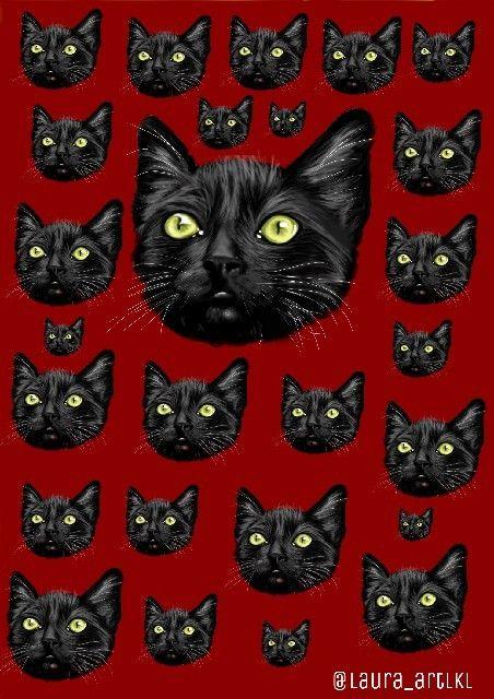 Wallpaper Gatos Wallpaper Salem Desenho Art Wallpaper
