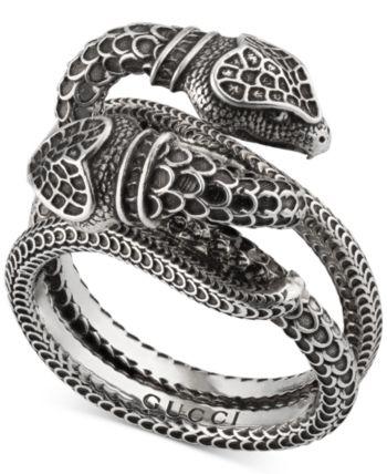 Gorgeous 925 Silver Emerald Snake Animal Ring Annversary Wedding Jewelry Gift
