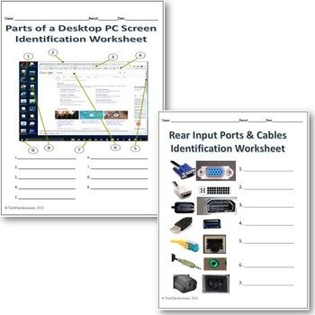 4 Computer Parts Labeling Worksheets Activity Labeling Activities Worksheets Computer Lessons