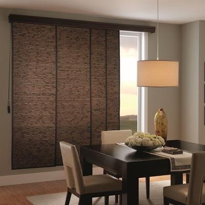 Woven Wood Sliding Panel Patio Door Coverings Sliding Patio Doors Sliding Glass Door Window Treatments