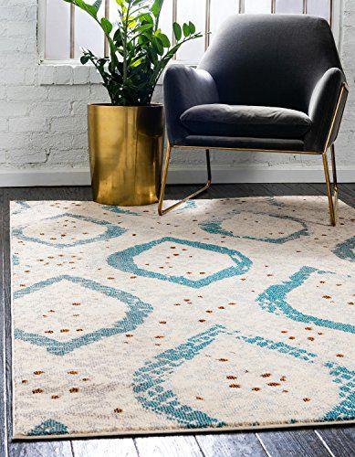 Unique Loom Estrella Collection Modern Abstract Cream Area Rug 7 0 X 10 0 Rugs Area Rugs Cream Area Rug