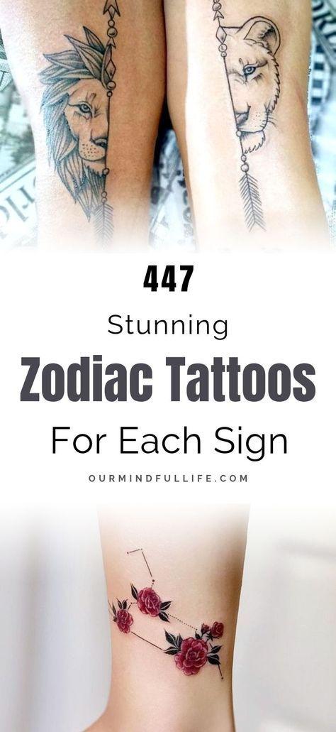 447 Zodiac Tattoo Ideas To Show The World Who You Are Tatouage