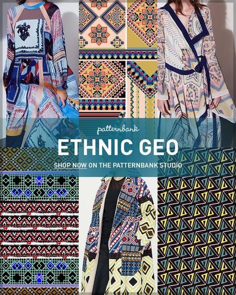 Ethnic Geo – Hand Curated Seasonal Trend Theme on the Patternbank Studio – A hugely popular part of our site is the seasonal trend…