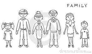 Image Result For Clipart Images Of Family Members Family Cartoon Black And White Cartoon Family Clipart