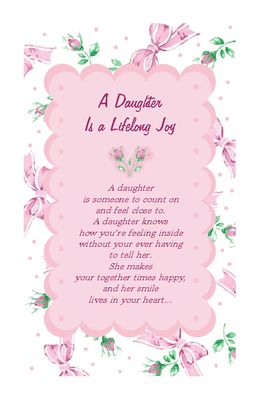 A Daughter Is Joy Birthday Printable Cards