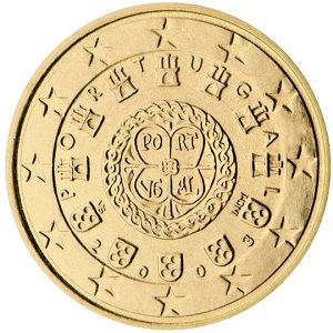 50 Cent 1142 Royal Seal 10 20 And 50 Cent Rota And Cross With Portugal As Well As Two Semi Circles As Described For The 1st Series Euro Coins Coins Euro