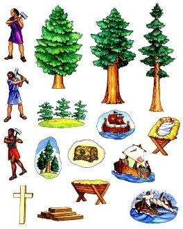 Tale Of Three Trees Bible Felt Stories Felt Stories Flannel