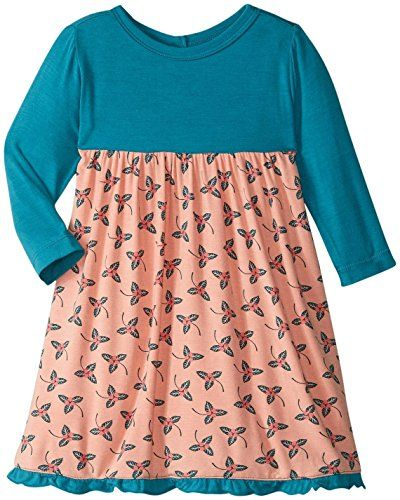 Kickee Pants Baby Girls Print Long Sleeve Swing Dress Prd-kpd122f16d1-blbr
