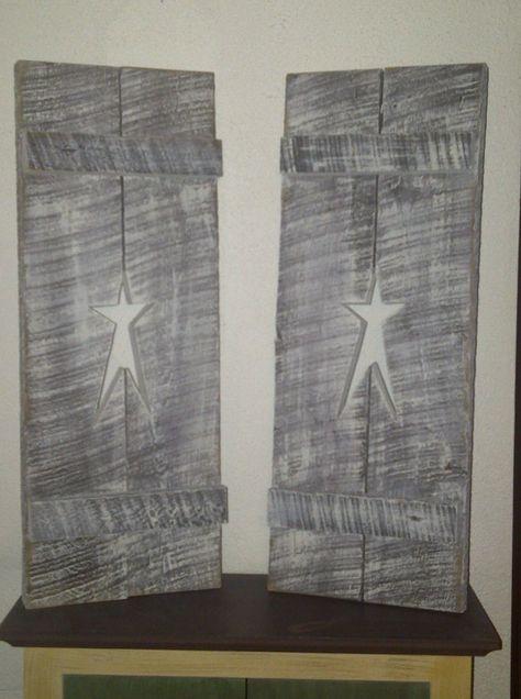 Wooden shutters