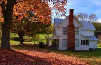 Farm House In The Fall