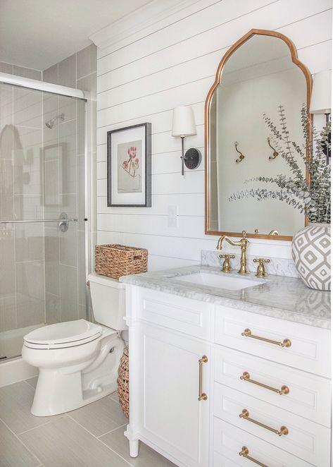 15 impressive french country bathroom design ideas for your inspiration 5 Diy Bathroom, Bathroom Renos, Bathroom Interior, Small Bathroom, Rental Bathroom, Funny Bathroom, Design Bathroom, Bathroom Fixer Upper, Shiplap Wall In Bathroom