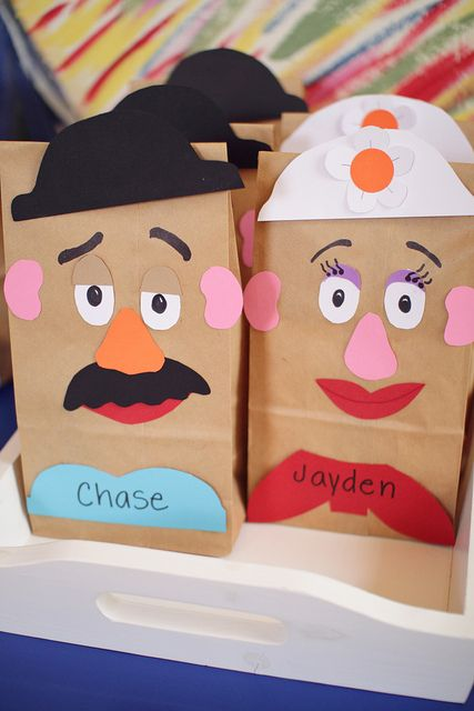 Toy Story Mr And Mrs Potato Head Treat Bags Or Craft Activity