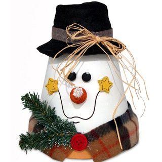 clay pot snowman...cute