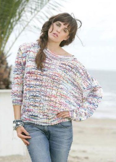 Ladies Summer Lace Sweater Knitting Pattern