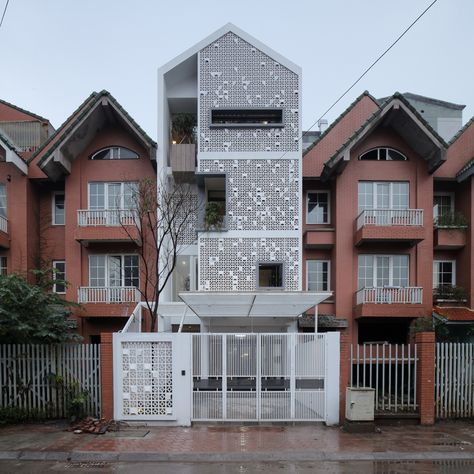 This house is a block in a row house in the expensive New Urban area, but now seem to be neglected after the economic crisis in Vietnam. Within the regulation, the slope roof is a must when doing renovation… We want this place to be reborn, with a n