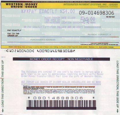 Picture Western Union Money Order Fake Money Money Order Ways