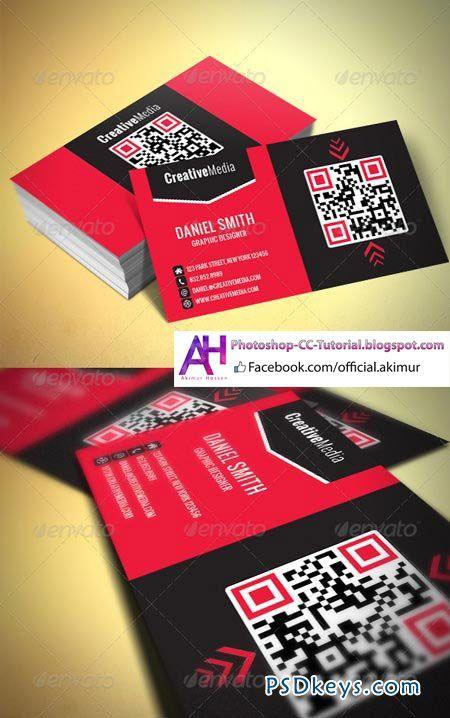 Modern Business Card Photoshop Psd Print Dimensions 3 5x2 350 Business Card Photoshop Modern Business Cards Qr Code Business Card