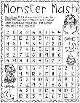 Print Play Halloween Math Games Halloween Math Games Halloween Math Halloween Classroom