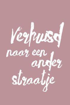 Verrassend lovz.nl   brush verhuiskaart - verhuisd naar en ander straatje UZ-71