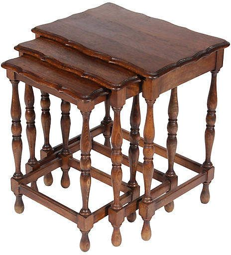 One Kings Lane Vintage Vintage French Nesting Tables Set Of 3