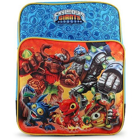 Skylanders Square Backpack by Skylanders. $19.99. Ideal for the Skylanders fan in the house, comes this ultra cool Skylanders backpack. Measures approximately 14 in (L) x 11 in (W) x 5 in (D). Made of 600D polyester canvas material, bag features front and main compartments along with padded adjustable back straps.. Save 20% Off!