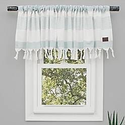 Ugg Napa Bath Window Curtain Panel And Valance In Agave Bed