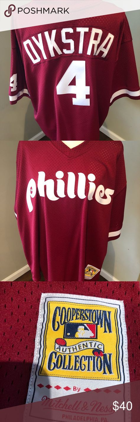 Mitchell & Ness Lenny Dykstra Phillies Jersey Mitchell & Ness Lenny Dykstra Phillies Jersey Men's Size 52 (2X) New without tags Mitchell & Ness Shirts Tees - Short Sleeve