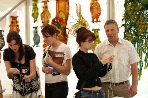 At an exhibition in Southampton - my macrames in the background // Jolanta Surma @Macrame Art