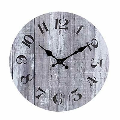 Silent Non Ticking Wooden Decorative Round Wall Clock Quality Quartz 10 Inch Fashion Home Garden Homedcor Round Wall Clocks Vintage Wall Clock Wall Clock